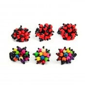 Seed and Bead Ring, both stlyes shown (multi and red),
