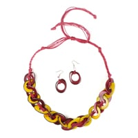 Cadena 2pc Set - Red and Yellow
