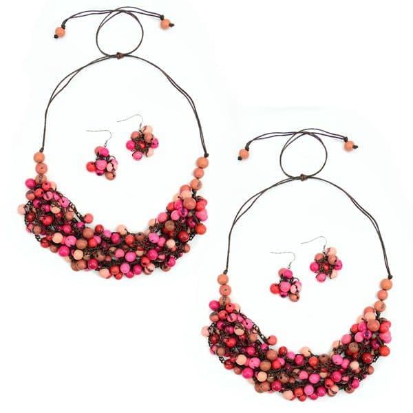 Pink Crocheted Seed Bundle (Set of 2)