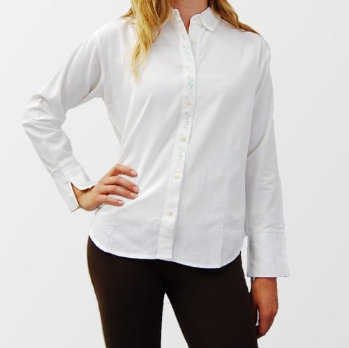 Embroidered Placket Blouse