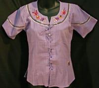 Adult Short Sleeved Shoelace Blouse
