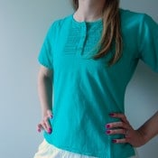 Button Panel Blouse