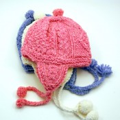 Kids Cable Knit Earflap Hat