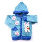 Rabbit in Pocket Sweater