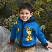 Giraffe in Pocket Sweater