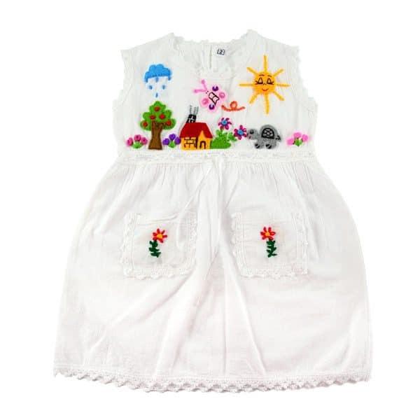 Applique Girl's Dress