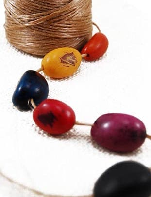 Dyed Tagua Nut