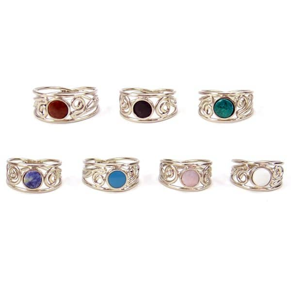 Ornate Stone Ring