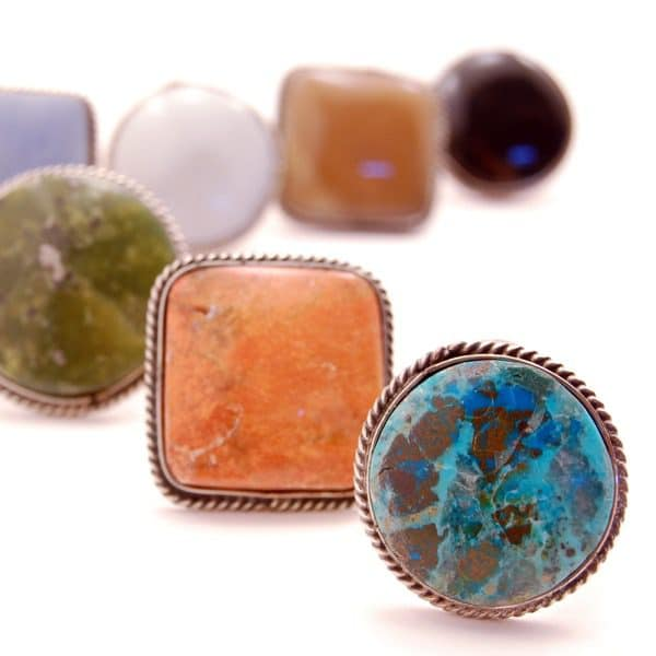 Earth Stone Ring - L