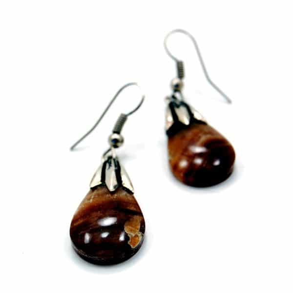 Polished Stone Earrings
