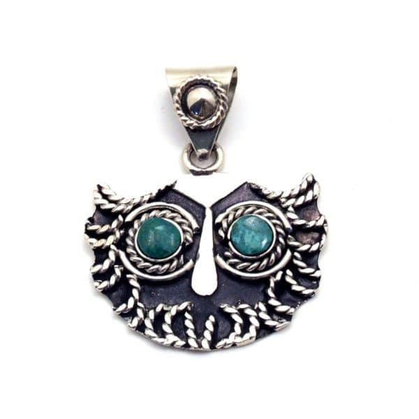 Stone-Eyed Owl Necklace
