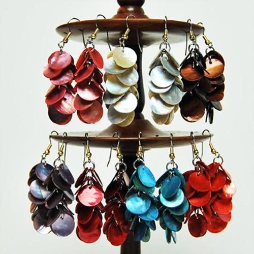 Mother of Pearl Cascade Earrings
