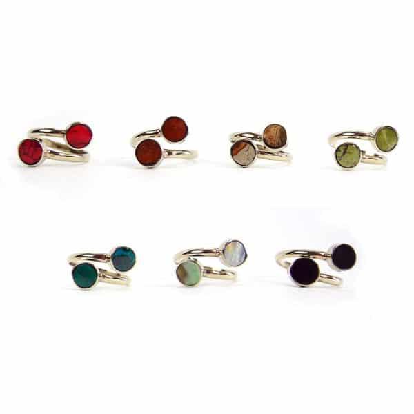 Mini Twin Stone Ring
