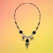 Stone Chandelier Necklace