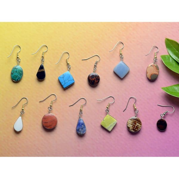 Simple Stone Earrings