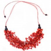 Jungle Crocheted Necklace