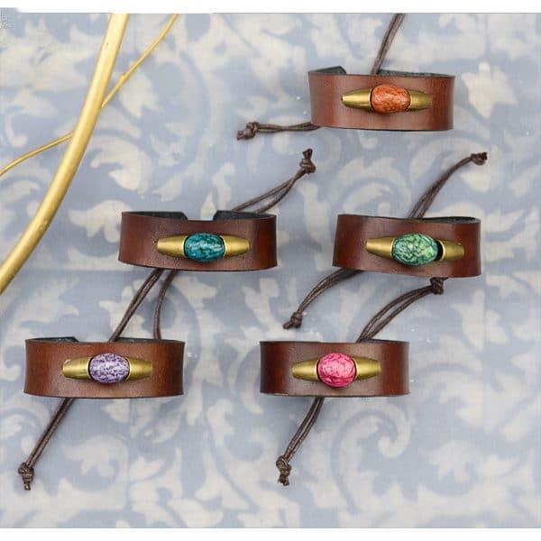 Leather Seeded Bracelet