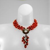 Knotted Seed & Coco Disc Necklace