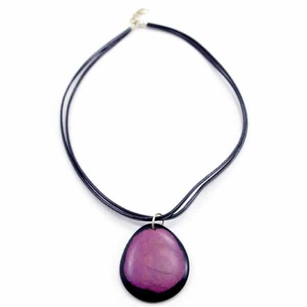 Dyed Circle Necklace
