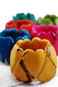 Tagua Heart Bracelet