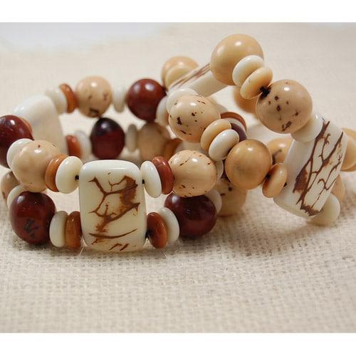 Natural Plaque Bracelet (Set of 5)