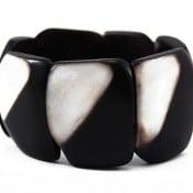 Black and White Plaque Bracelet