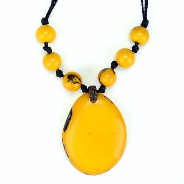 Tagua Simple Slice Necklace
