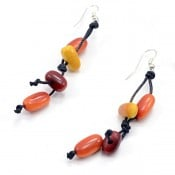 Knotted Cylinder Earrings