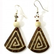 Tagua Totem Earrings