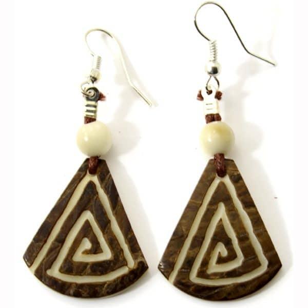 Tagua Totem Earrings