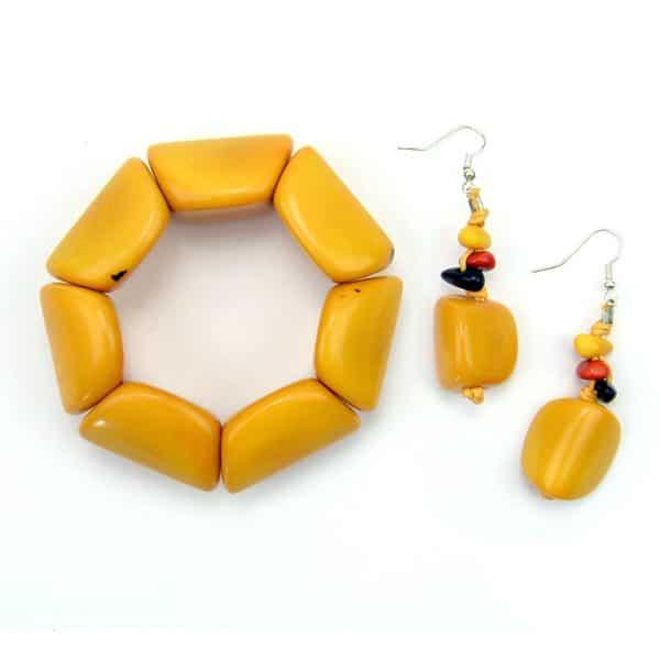Chunky Bracelet & Earring Set