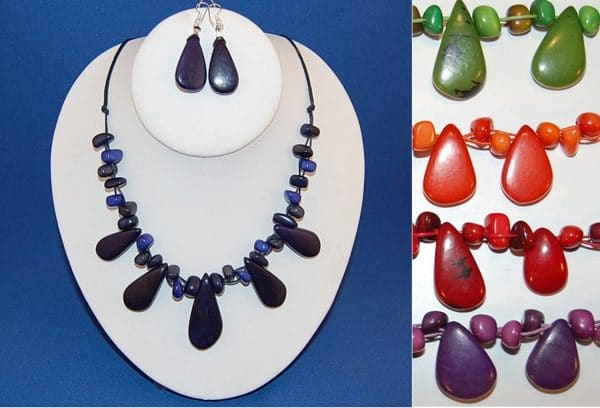 Tagua Teardrop & Chip Set