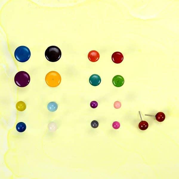 Tagua Stud Earrings