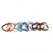 Semi-Precious Rock Stretch Bracelet