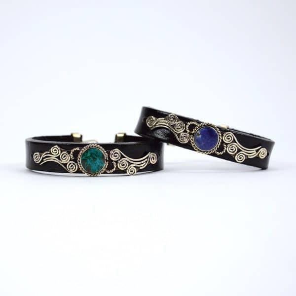 Cursive Leather Bracelet