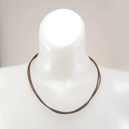 Double Strand Leather Necklace