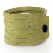 Sliced Leather Bracelet