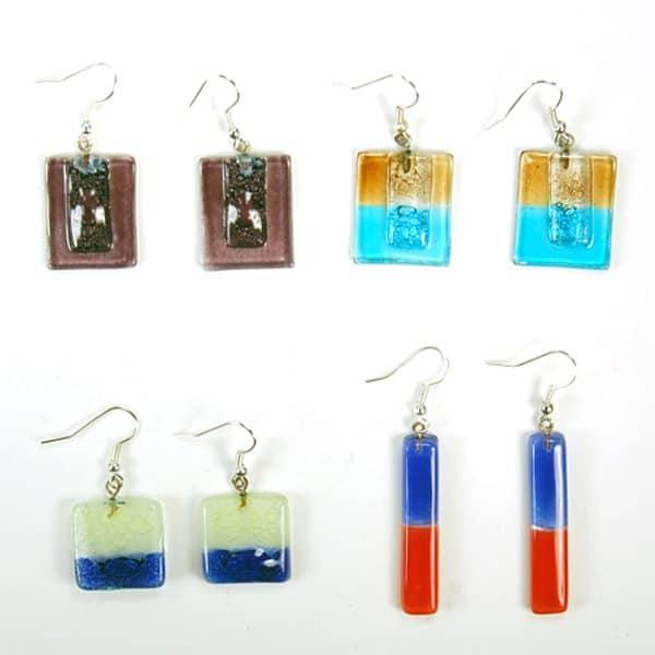 Naked Art Glass Earrings