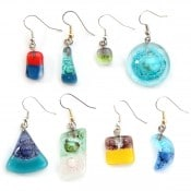 Naked Art Glass Earrings