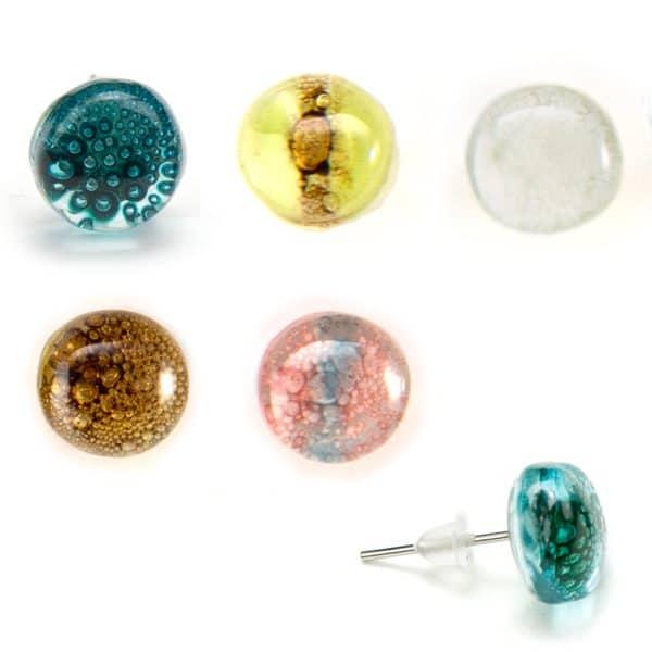 Art Glass Stud Earrings