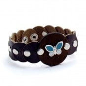 Leather Butterfly Bracelet