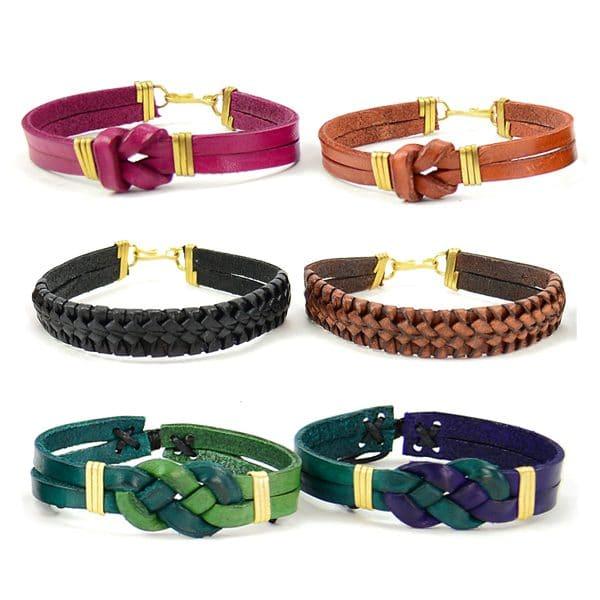 Leather Love Knot Bracelet