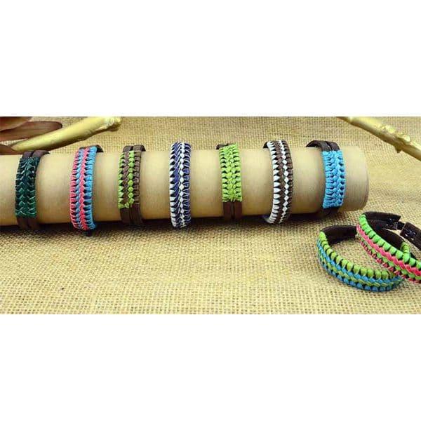 Leather Zip Bracelet