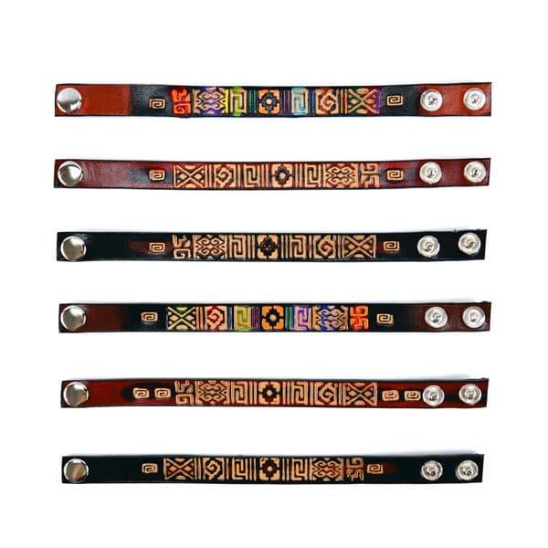 Leather Totem Bracelet