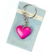 Tagua Amor Heart Keychain