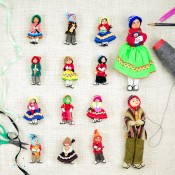Recycled Fabric Doll - S