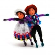 Worry Doll Pair Pin