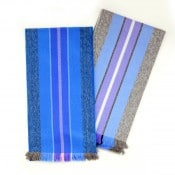 Striped Microfiber Scarf
