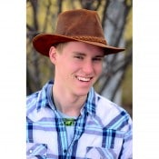 Leather Aussie Hat