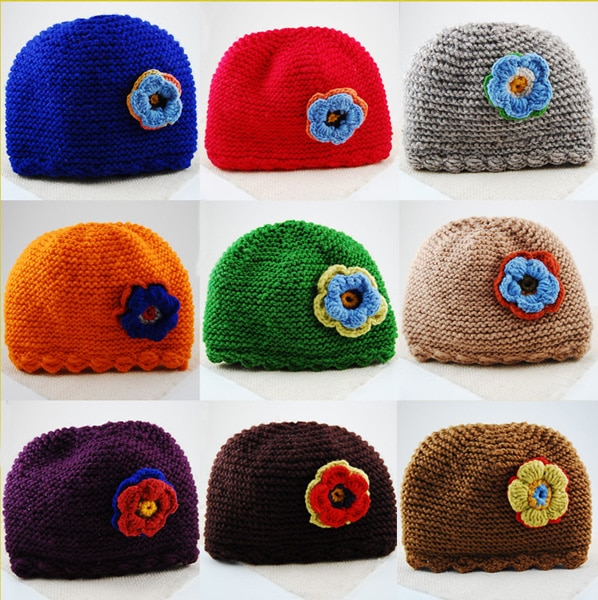 Kid's Flower Applique Hat